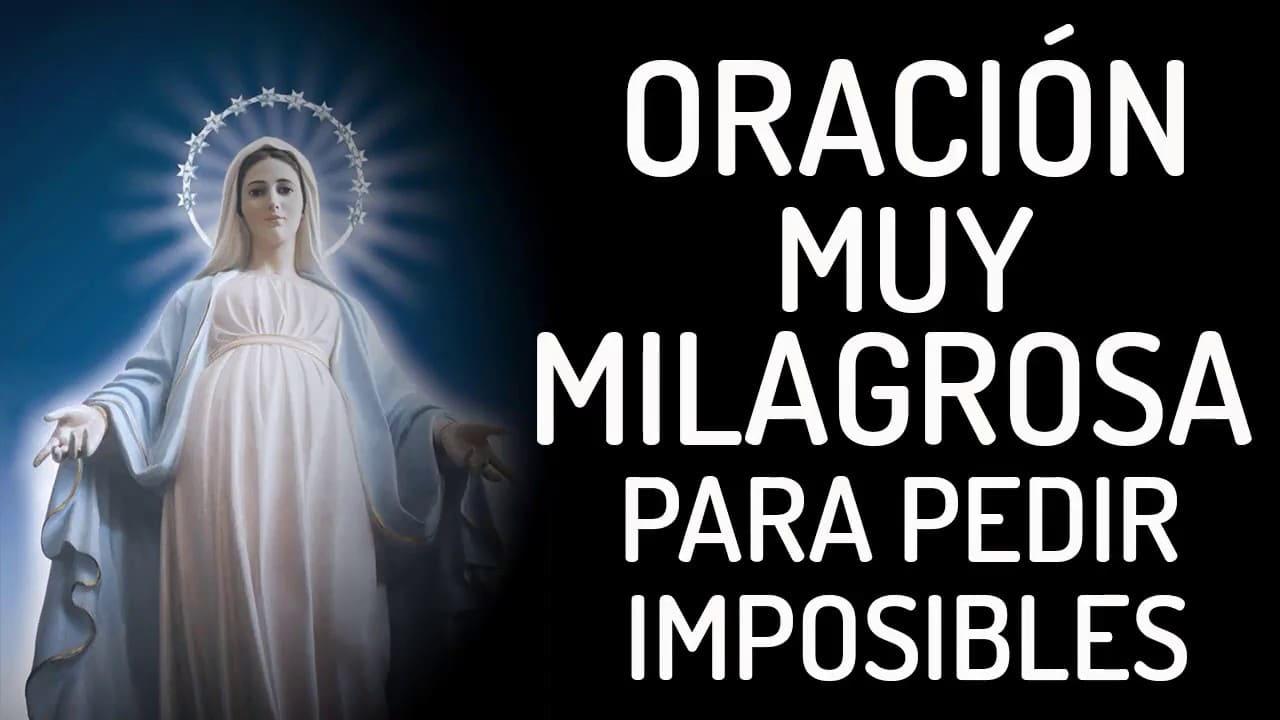 oración muy milagrosa